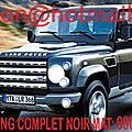 Land Rover <b>Defender</b>, Land Rover <b>Defender</b>, covering Land Rover <b>Defender</b>, Land Rover <b>Defender</b> noir mat