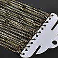 <b>Lot</b> de 12 colliers chaines argenté ou bronze