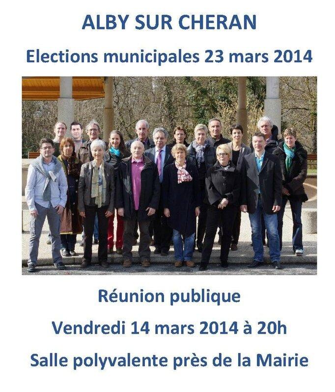Réunion publique affiche