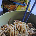 Nouilles sautéés de dinde champignons Shitake au wok