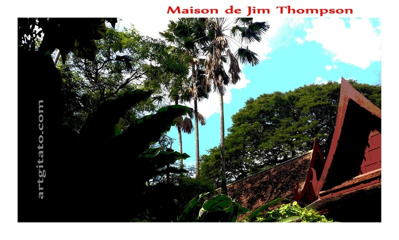 Maison de Jim Thomson The Jim Thompson House Bangkok Thailand Thailande