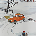 Collection ... Affiche L'HIVER / LE CAMPING