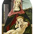 Audap & Mirabaud to offer a <b>Madonna</b> of the Pomegranate painted on panel by Sandro Botticelli