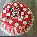 Gâteau Minnie ( ganache <b>kinder</b>)