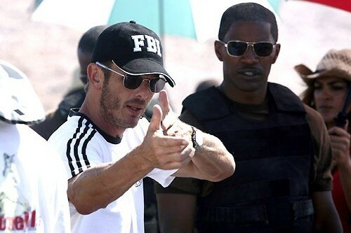 Peter Berg & Jamie Foxx sur le tournage de The Kingdom