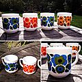 Lot de 4 mugs <b>Lotus</b> par