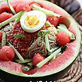 Subak Naengmyeon : nouilles piquantes à la pastèque