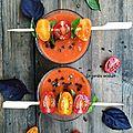 <b>Soupe</b> de tomates aux parfums d'Asie