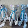 Une commande de lapin, et chats faon <b>Tilda</b> mais avec la patte de Valinette