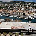 Des tables d'interprétation du paysage sur la colline du Château de Nice