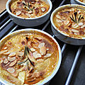 Gratin d'abricots-nectarines blanches