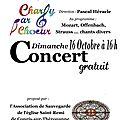 concert donné par la Chorale Charly par Choeur, Dimanche 16 Octobre 2016 à 16 heures
