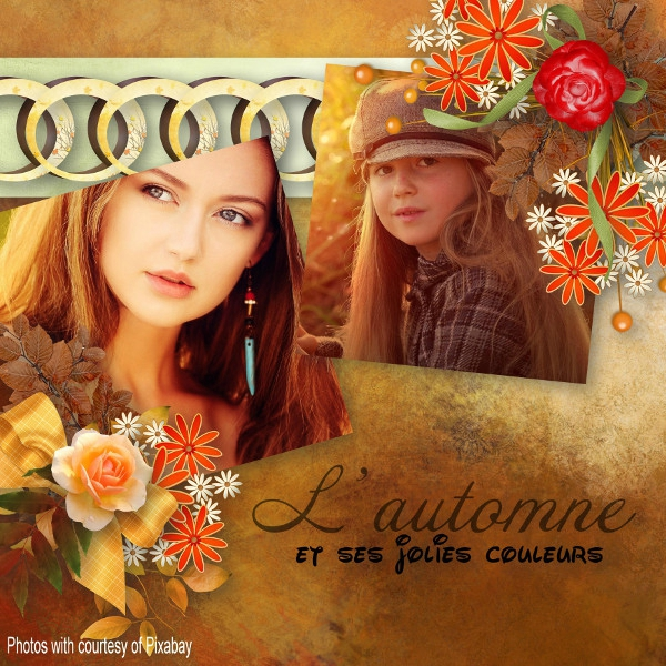 Flomelle - template pack 11 - kit louisel_songedautomne - photos Pixabay