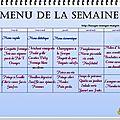 Menu pour la semaine du 22/09 au 28/09 2014 ...