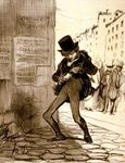 Honoré-Daumier-Vole!Rue-vide-gousset,-no-13-from-the-series-É-painting-artwork-print