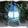 Maquette : la lampe de dentelle de papier
