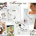 Mariage en marron, <b>bijoux</b> de <b>créateur</b> mariage marron chocolat, collier mariage marron