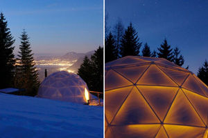 whitepod_geodesic_domes_night_view
