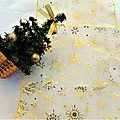Noël Chemin de Table Organza <b>Doré</b>