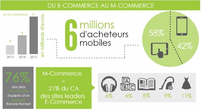 Chiffres m-commerce france 2015