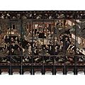 A twelve-leaf <b>Coromandel</b> <b>lacquer</b> screen. Qing dynasty, Kangxi period - Sothebys