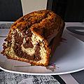 Cake <b>marbré</b> (version classique et version allégée)