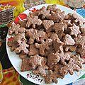 Sablés noix de coco, chocolat et flocons d'avoine