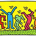 Keith Haring - <b>Silhouettes</b> en mouvement
