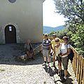 Le sentier touristique de la chapelle, un sentier emprunté par de nombreux marcheurs ....
