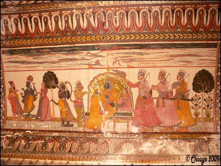 Orchha_Jahangir_Mahal_fresques_2
