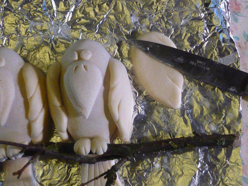 Симпатичные вороны из соленого теста.МК 27760649