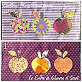 <b>Couture</b> : Couverture patchwork du challenge Margotte (Partie 1 : les 3 pommes)
