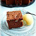 Brownie choco/<b>poire</b>