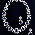 Sapphire and diamond set by <b>Bulgari</b>