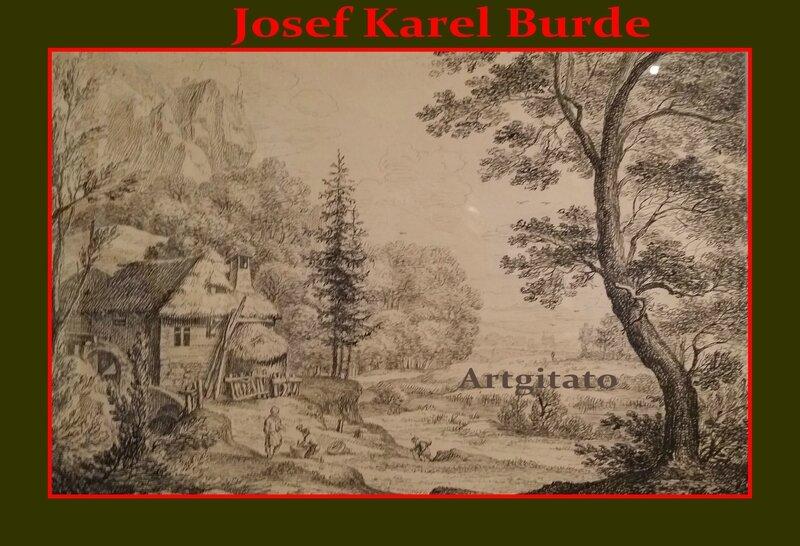 Josef Karel Burde Paysage Campagnard