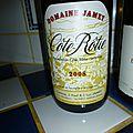 Côte Rôtie : Jamet 2008 et <b>Châteauneuf</b> du Pape : Domaine de la Mordorée 2004