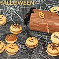 Mac'Halloween (macarons abricot-praliné)