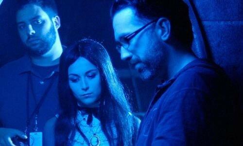 Alexa Vega et Darren Lynn Bousman (à droite) sur le tournage de Repo ! The Genetic Opera !