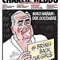 Boko Haram, <b>DSK</b> solidaire - Charlie Hebdo N°1143 - 14 mai 2014