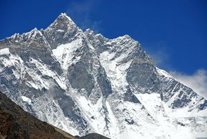 Kongma La 24 Lhotse South Face, Lhotse, Lhotse Middle, Lhotse Shar Close Up From Dingboche