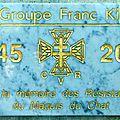 Reportage photographique de l'inauguration de la Plaque 1945-2015 du Groupe Franc Kléber de Lagnes par Mlle Carine MOLINER