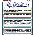 Accord <b>PRIME</b> de PROGRES