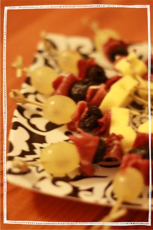 recettes plats  Magret de canard en brochettes