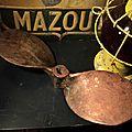 Ancienne Hélice de Bateau Deux Pales Bronze.