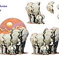 la famille Eléphants