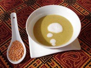 recettes entrees  Velouté de lentilles corail au lait de coco et aux 3 épices