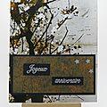 <b>Carte</b> fleurs de cerisier - Cherry blossom card
