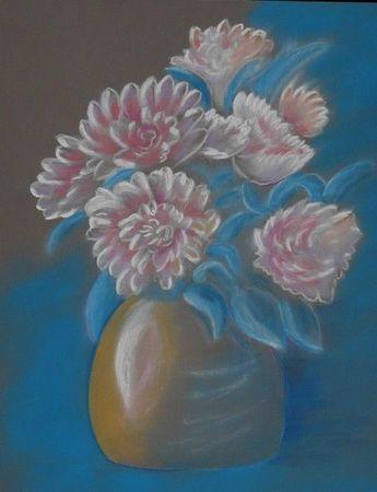 pastel fleurs juin 2011