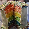 Le gâteau arc-en-<b>ciel</b>