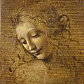 Leonardo da <b>Vinci</b>, Head of a Woman (La Scapigliata), 1500–1505